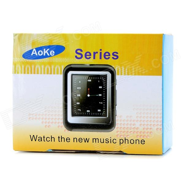"AoKe 09 GSM Watch Phone w/ 1.44"" Resistive Screen, Triple-Band, Single-SIM, Bluetooth, FM - White"