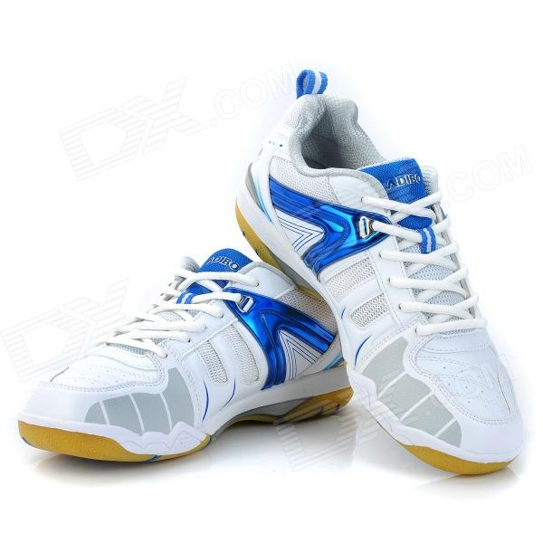 ADIBO AQA-1202S150-42 Professional Sport Anti-Slip Badminton Shoes - Blue + White (EUR Size 42)