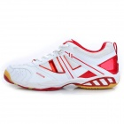 ADIBO AQA-1202S151-40 Professional Sport Anti-Slip Badminton Shoes - Red + White (EUR Size 40)