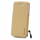 BASEUS LTAPIPH5-XW11 Protective PU Leather Top Flip Open Case for iPhone 5 - Khaki
