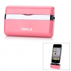 iWalk MFi Mini 1000mAh Externe Docking Backup-Batterie-Ladegerät für iPhone 4 / 4S / iPod - Pink