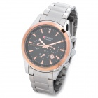 CURRENT 8085 Fashion Man's Stainless Steel Quartz Analog Waterproof Wrist Watch - Silver + Golden