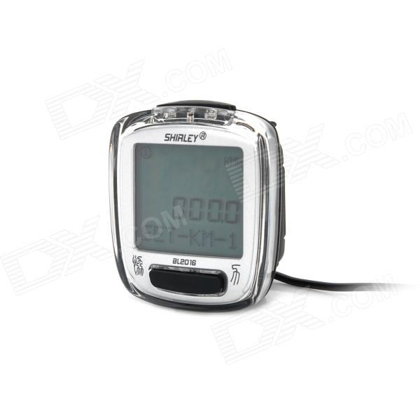 "1.6"" LCD Bicycle Computer / Speedometer - Silver (1 x CR2032)"