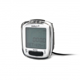 """1.6"""" LCD Bicycle Computer / Speedometer - Silver (1 x CR2032)"""