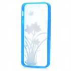 Colorfilm Daffodil Pattern Protective Plastic Back Cover Case for Iphone 5 - Blue + Pink