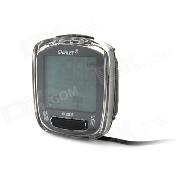 1.6 LCD Digital Bicycle Computer / Speedometer - Black (1 x CR2032)