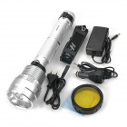 SDT-002 Rechargeable 85W HID 8500lm White Flashlight - Silver + Black