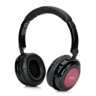 Hi-Fi Stereo Bass Bluetooth v2.1 Headphones w/ Microphone - Black + Red