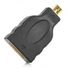 WingTurn WT-0204-HPD-F Micro HDMI Male to HDMI Female Adapter - Black + Golden