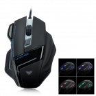 AULA Ghost Shark Athletics USB Red Laser 2000dpi Mouse - Black