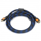 SJX-04 HDMI V1.3 Male to Male Connection Cable - Orange + Black + Blue (300cm)