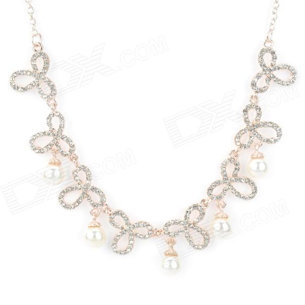 Fashion Party Rhinestone украшения Pearl Necklace - Pearl White
