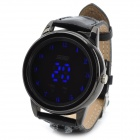 SKMEI 0921 Fashion PU Band Digital LED Wrist Watch w/ Compass - Black (2 x CR2025)