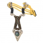 Steel Slingshot Launcher w/ Five Steel Balls - Silver + Yellow