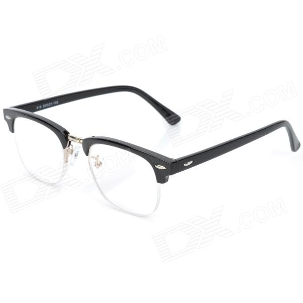 Old Man 100 619 Retro +1.50D Resin Lens PC Frame Reading Glasses - Black old man 100 619 retro 250 degrees resin lens pc frame reading glasses black