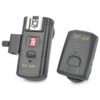 RC-04H Wired 4-CH Flash Trigger Set for Canon / Nikon / Panasonic - Black
