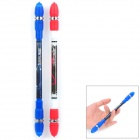 ZHIGAO ZG-5091 Intelligence Toy Non Slip Spinning Ballpoint Pens - Red + Blue (2 PCS)