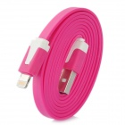 USB Data / Charging 8-Pin Lightning Flat-Kabel für iPhone 5 / iPad Mini / iPad 4 - Deep Pink (1M)