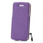 BASEUS LTAPIPH5-XW05 PU Leather Twill Top Flip Open Case for iPhone 5 - Purple