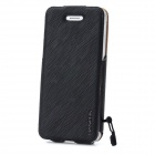 BASEUS LTAPIPH5-XW01 PU Leather Twill Top Flip Open Case for Iphone 5 - Black