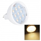 MWR-MR16-N MR16 3W 170lm 3200K 9-LED Warm White Light Lamp - White (12V)