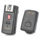 RC-04A Wired 4-CH Flash Trigger Set for Canon / Nikon / Panasonic - Black