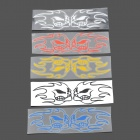 Cool Skull On Fire Plastic Reflective Stickers for Motorcycle - Color Assort (5 PCS)