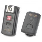 RC-08A Wired 8-CH Flash Trigger Set for Canon / Nikon / Panasonic - Black