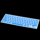 Housse de protection Silicone clavier Dark Glow-in-the de style pour MacBook Pro - bleu + Transparent