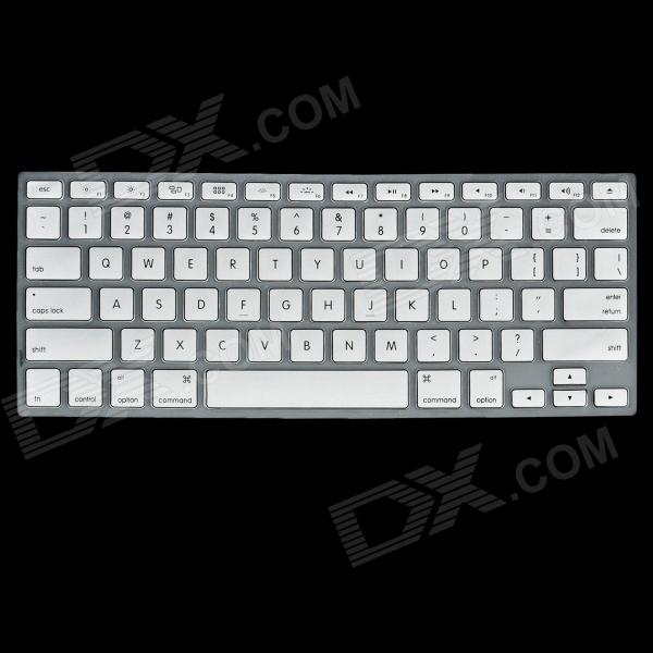 Style Silicone Glow-in-the Dark Keyboard Protective Cover for MacBook Pro - Silver + Transparent