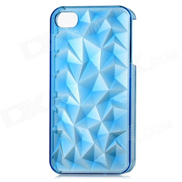 все цены на 3D Crystal Diamond Style Protective Plastic Back Case for Iphone 4 / Iphone 4S - Translucent Blue онлайн