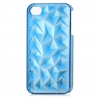 3D Crystal Diamond Style Protective Plastic Back Case for iPhone 4 / iPhone 4S - Translucent Blue
