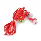 BSBESTE BSB-300 3,5 mm de ouvido intra-auriculares w / Microfone para Iphone - Red (114 centímetros)