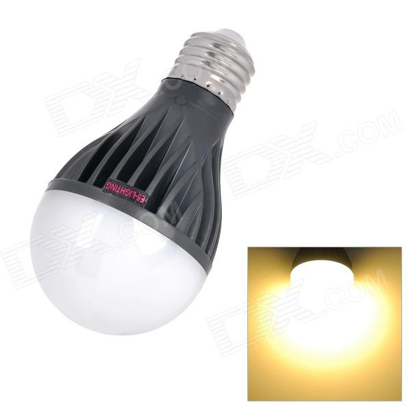 E5-Lighting E27 8W 750lm 3500K 21-LED A19 Warm White Graphite Bulb - Black + White