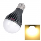 E5-Lighting 8W 750lm 3500K 21-LED A19 Warm White Graphite Bulb - Black + White