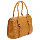 Casual Women's PU Leather One Shoulder Bag - Beige