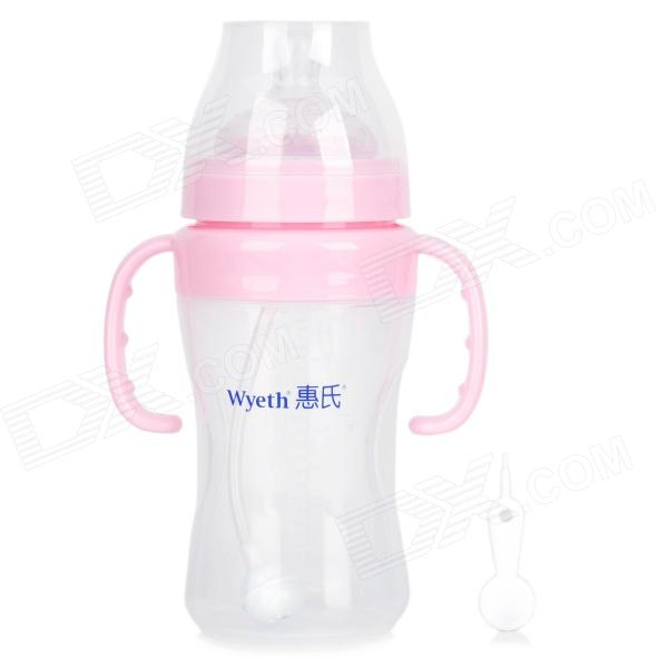 Wyeth WP29 Dual Handle Automatic Flow-up Baby PP Feeding Bottle - Pink (260ml)