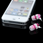D9 3.5mm Plug In-Ear Stereo Earphone - Deep Pink + Silver + White