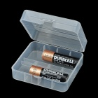 2-Compartment Plastic Storage Box for 26650 Batteries - White