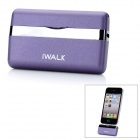 iWalk MFi Mini 1000mAh Externe Docking Backup-Batterie-Ladegerät für iPhone 4 / 4S / iPod - Purple