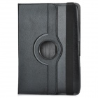 Protective PU Leather Case w/ 360 Degrees Stand for Google Nexus 10 - Black