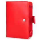 Protective PU Leather Case for Amazon Kindle Paperwhite - Red