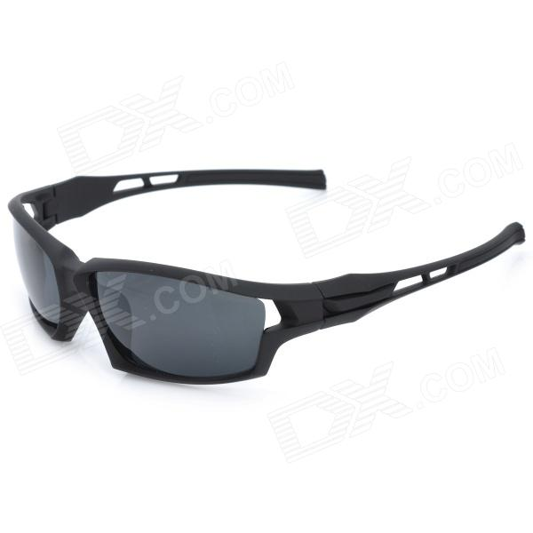 BaoLina 5011 Outdoor Riding Man Resin Lens PC Frame UV Protection Sunglasses Goggles - Black