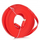 1080p 3D HDMI V1.4 Male to Male Flat Connection Cable - Red (1000cm)