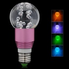 E27 3W 250lm RGB Multicolored Light Crystal LED Bulb - Pastel Violet (85~265V)