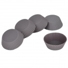 SP99022 Round Shape Silicone DIY Mold Tray for Muffin / Cake / Dessert / Chocolate / Pudding - Brown