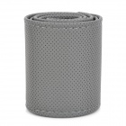 DIY Sewing Leather Fiber Car Steering Wheel Sleeve - Grey (37~38cm)