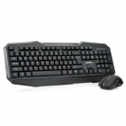 LingDu D9200 Cool 2.4GHz Wireless Keyboard with Mouse Set - Black (1 x AA)