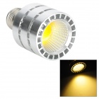 E27 5W 450lm 4500K COB Warm White Light LED Spotlight - Silver (85~265)