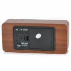 SLT-6035 Rosewood Pattern Wood Decorative Desktop Clock - Brown (DC 6V / 4 x AAA)